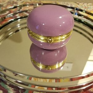 Purple Ceramic Jewelry Box